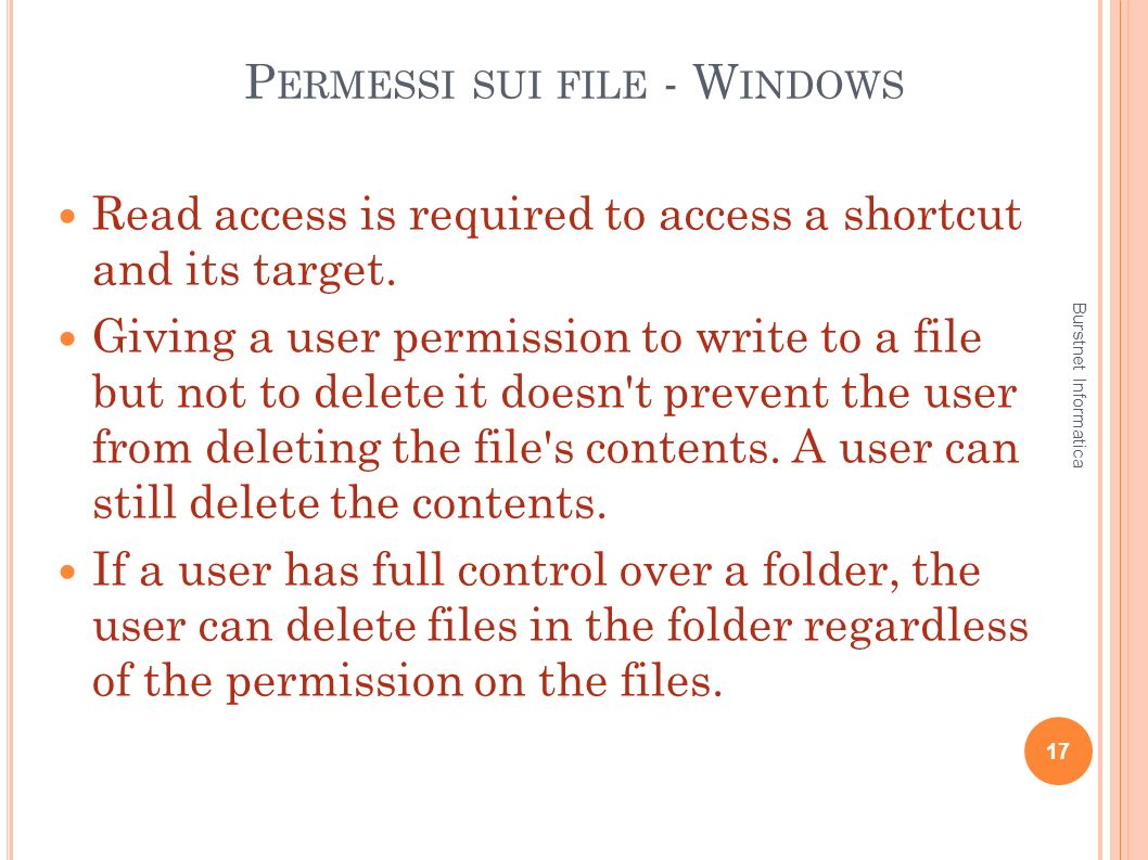 Permessi sui file - Windows