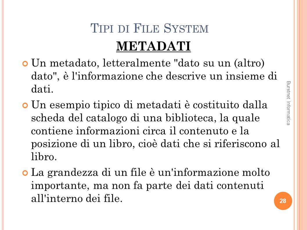 Tipi di File System METADATI
