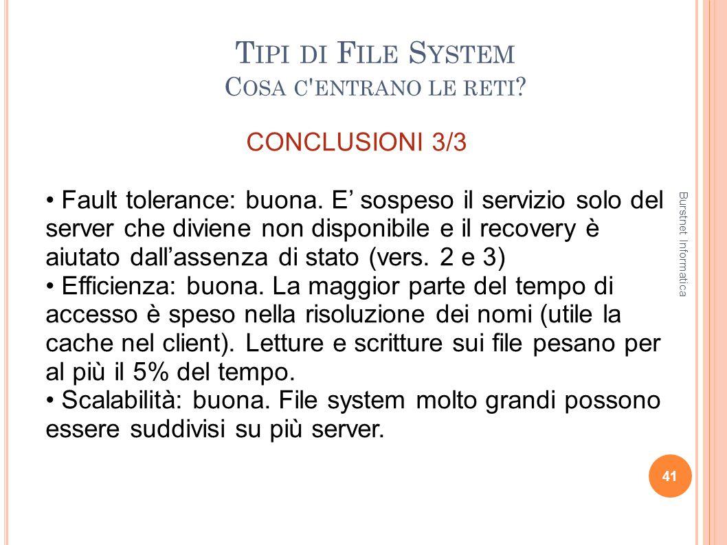 Tipi di File System Cosa c entrano le reti