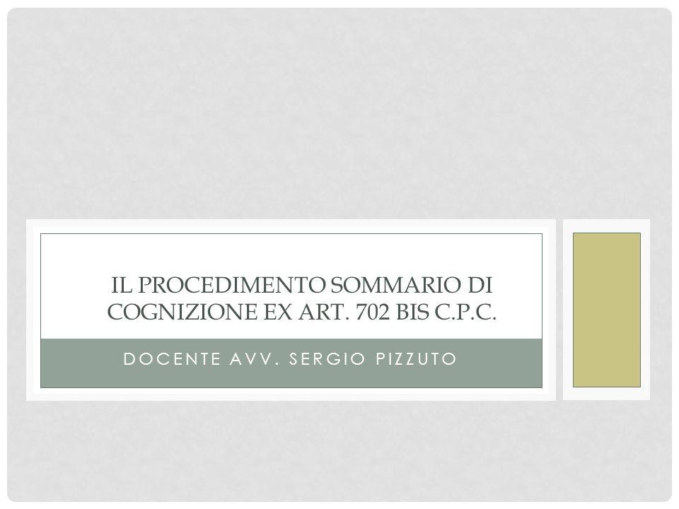 Il procedimento sommario di cognizione ex art. 702 bis c.p.c.
