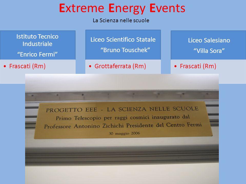 Extreme Energy Events La Scienza nelle scuole