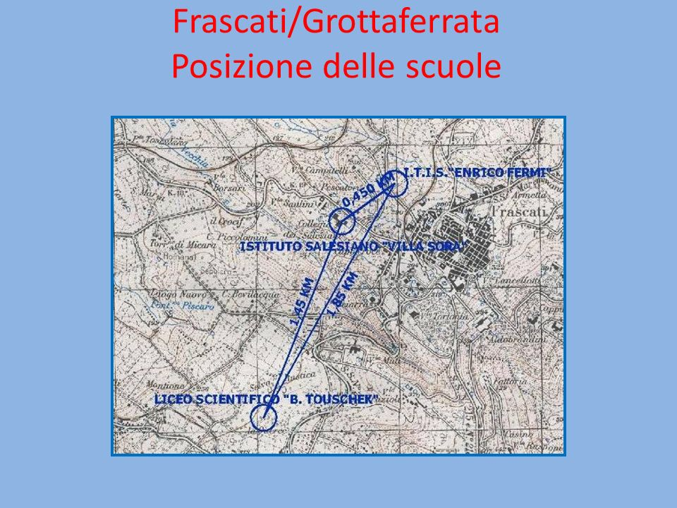 Frascati/Grottaferrata Posizione delle scuole