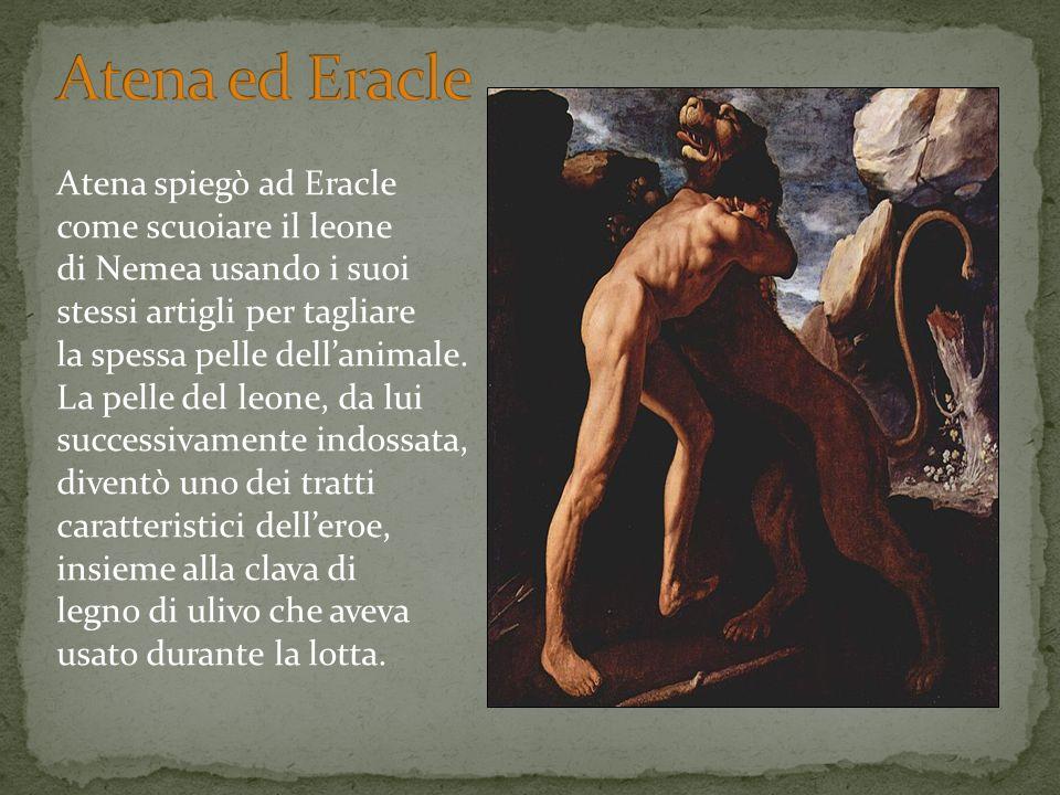 Atena ed Eracle Atena spiegò ad Eracle come scuoiare il leone