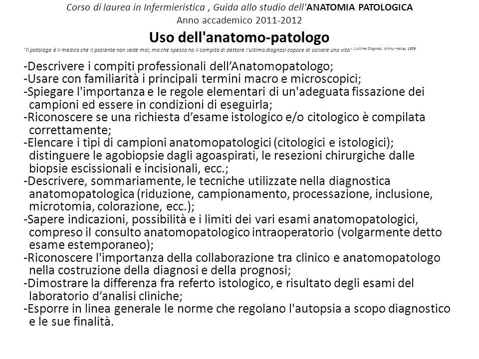 Uso dell anatomo-patologo