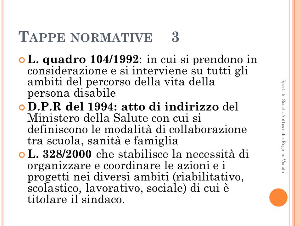 Tappe normative 3