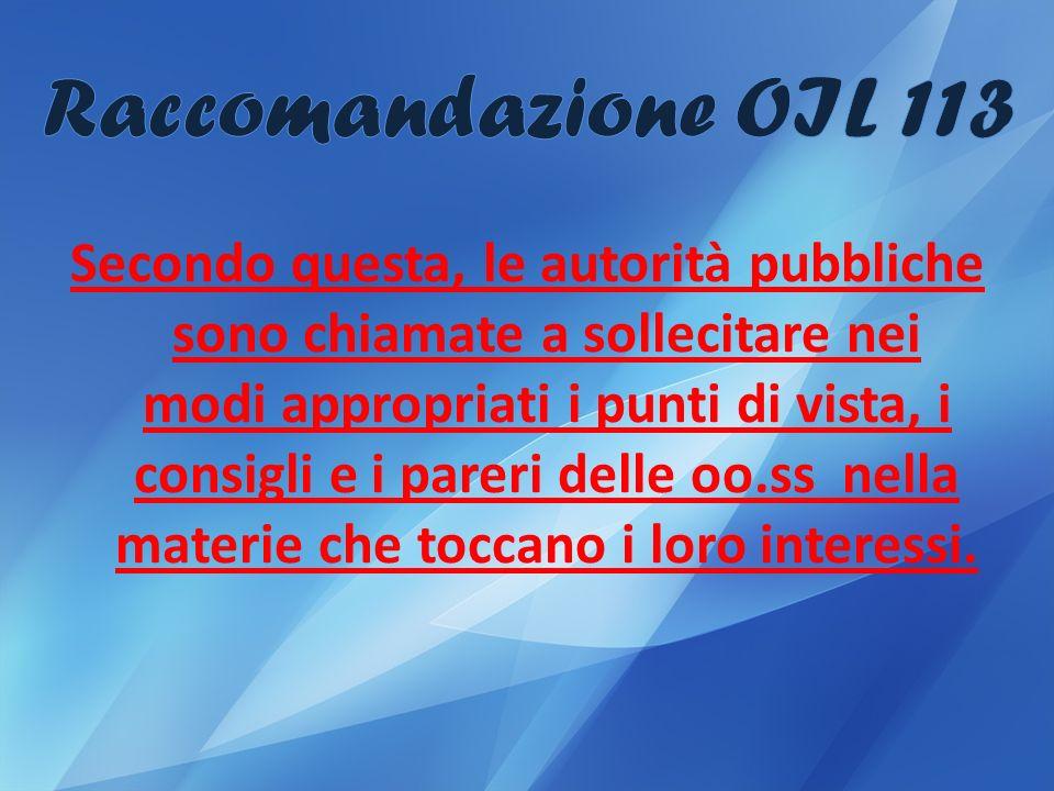 Raccomandazione OIL 113