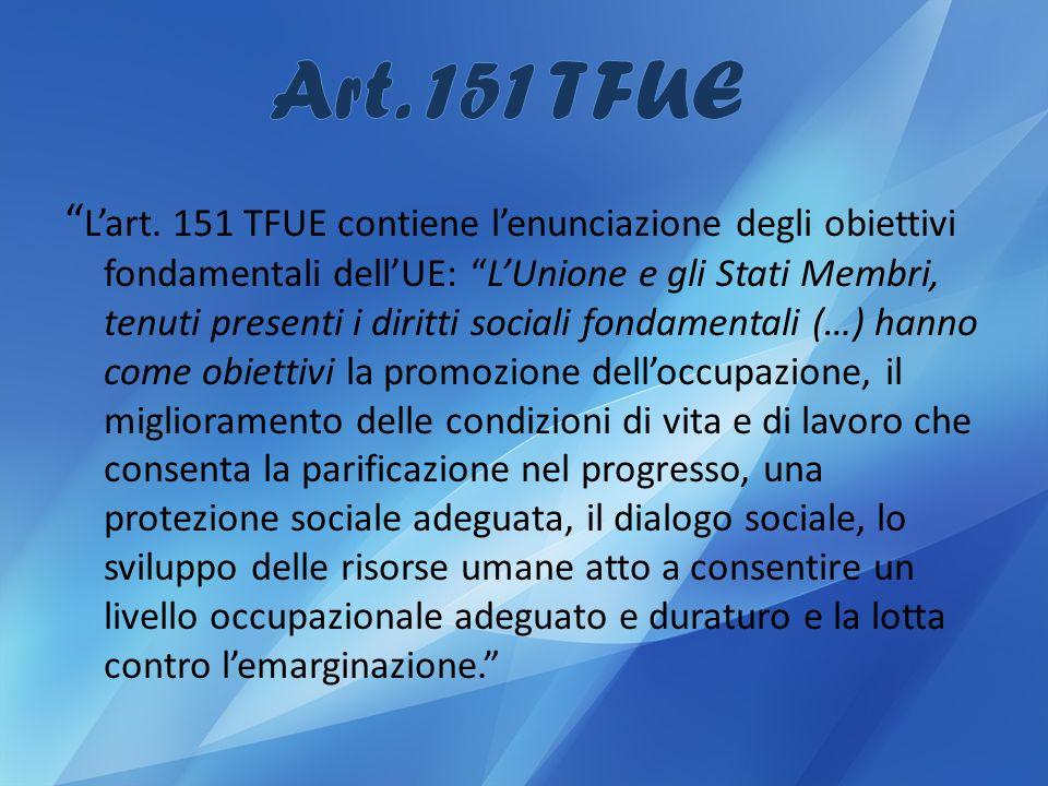 Art. 151 TFUE