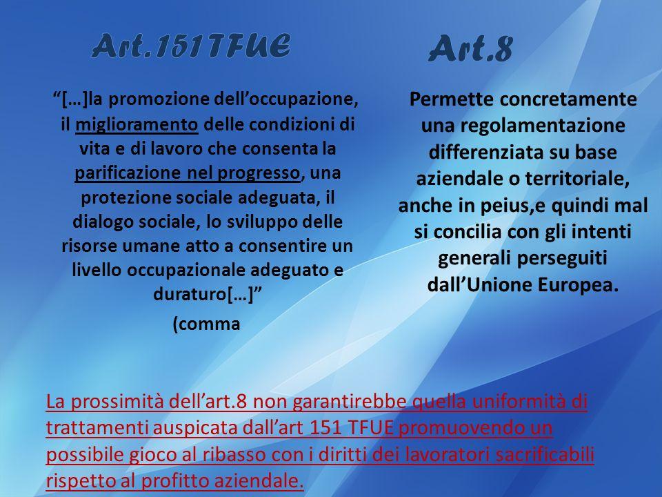 Art.8 Art. 151 TFUE.