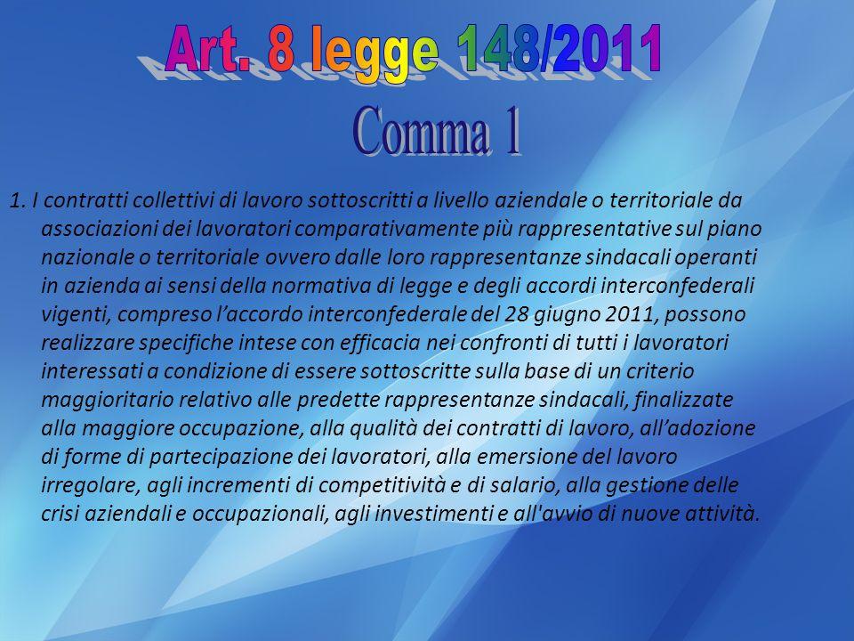 Art. 8 legge 148/2011 Comma 1.