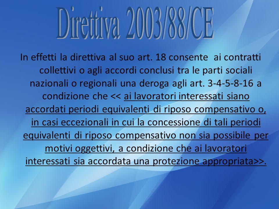 Direttiva 2003/88/CE