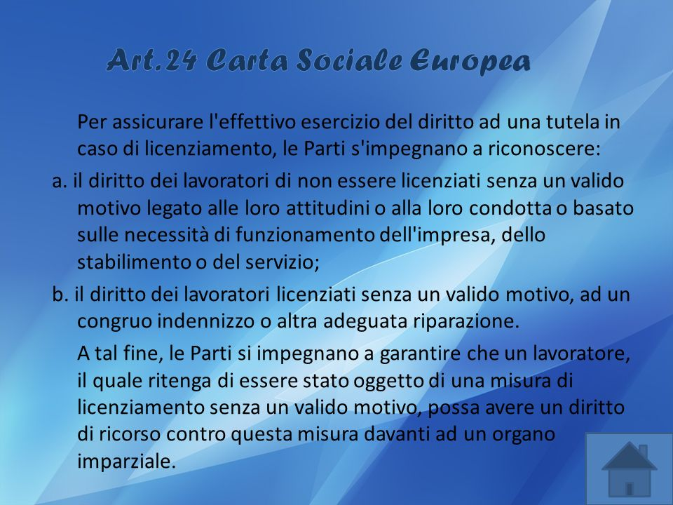 Art. 24 Carta Sociale Europea