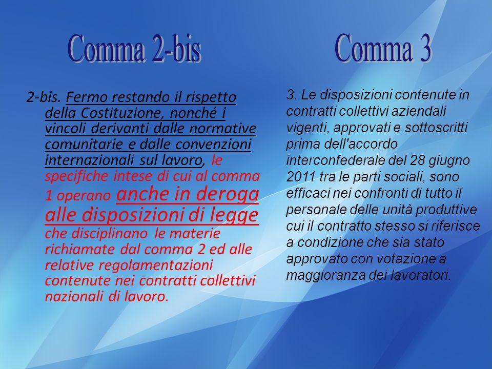 Comma 2-bis Comma 3.