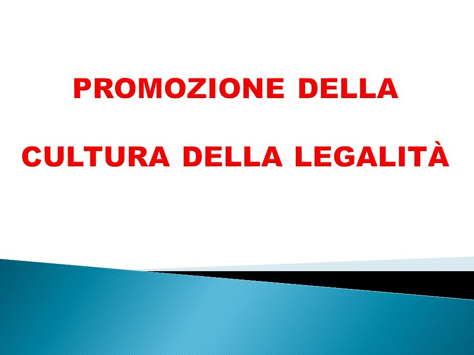 promozione della cultura della legalità