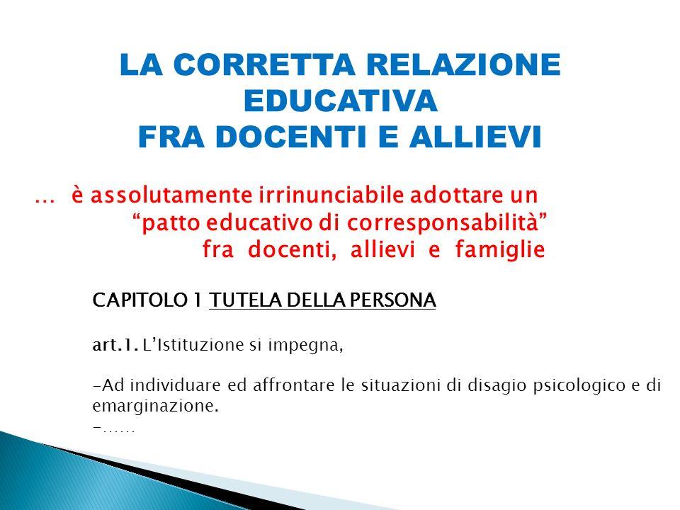 patto educativo di corresponsabilità fra docenti, allievi e famiglie