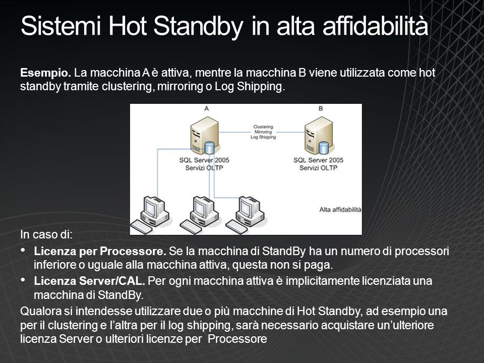 Sistemi Hot Standby in alta affidabilità