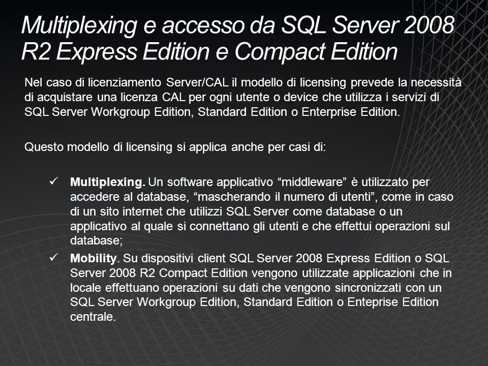Multiplexing e accesso da SQL Server 2008 R2 Express Edition e Compact Edition