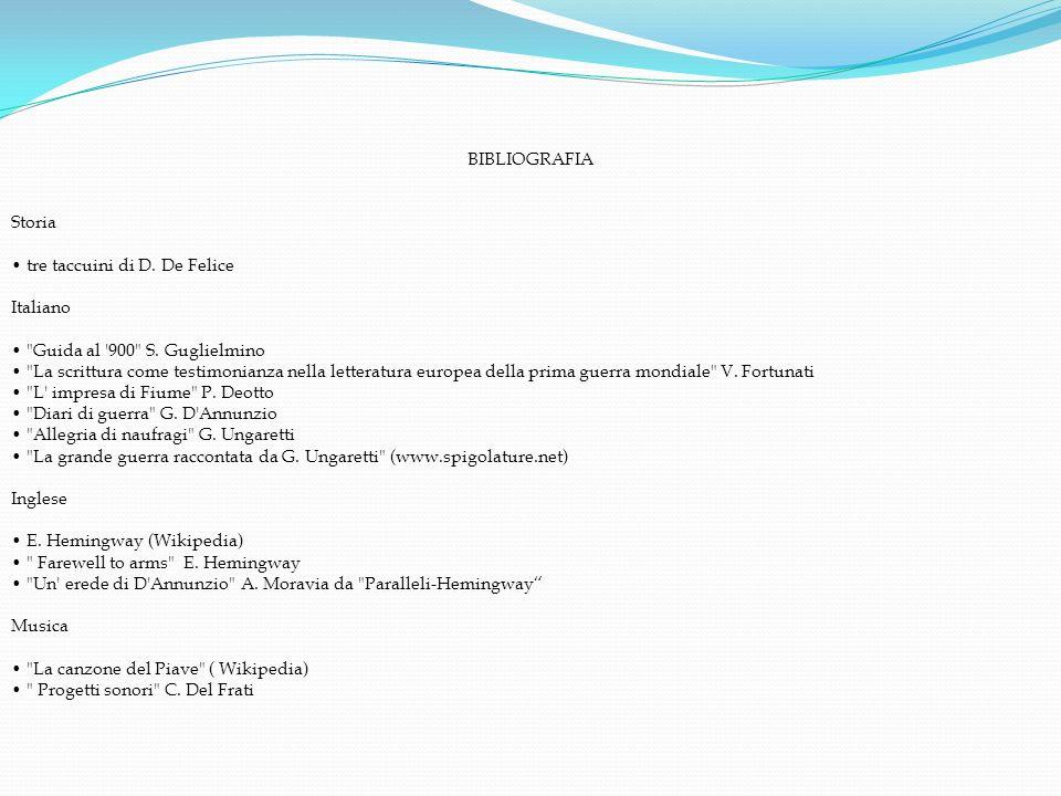 BIBLIOGRAFIAStoria. tre taccuini di D. De Felice. Italiano. Guida al 900 S. Guglielmino.