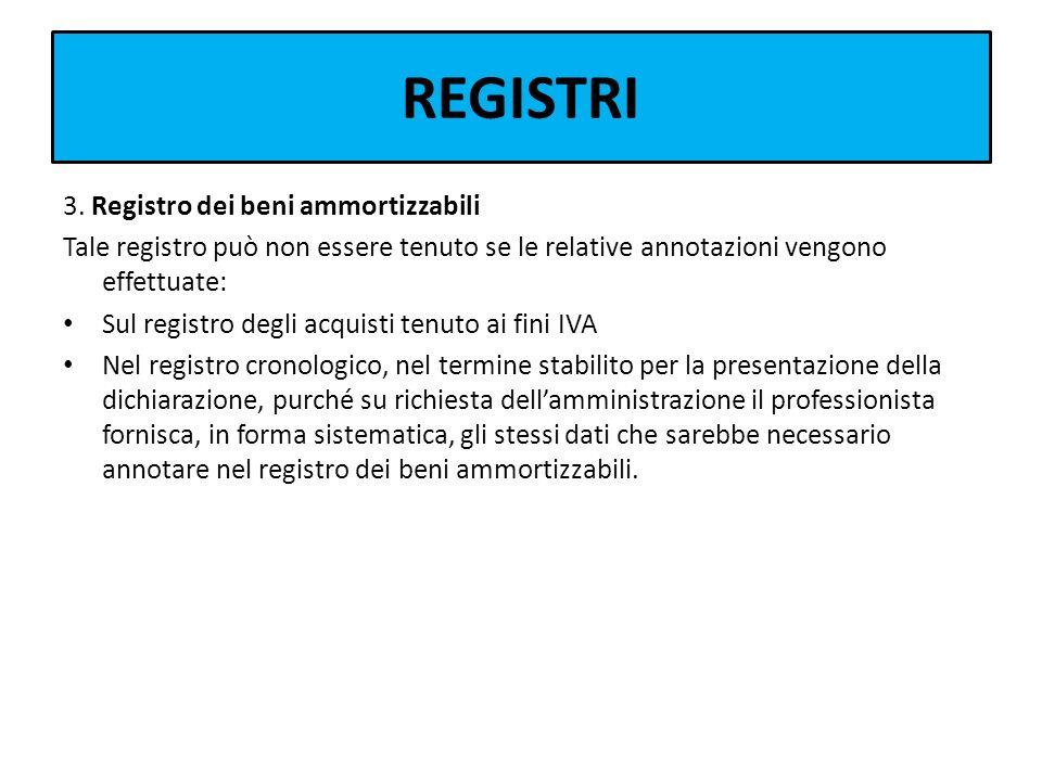 REGISTRI 3. Registro dei beni ammortizzabili