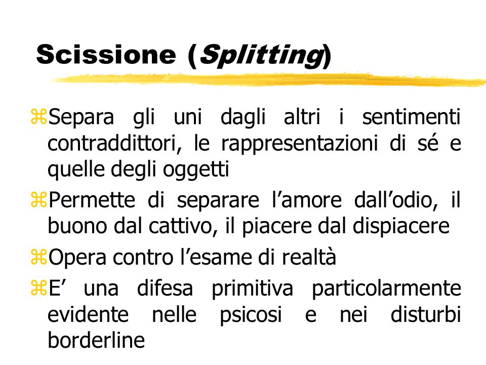 Scissione (Splitting)