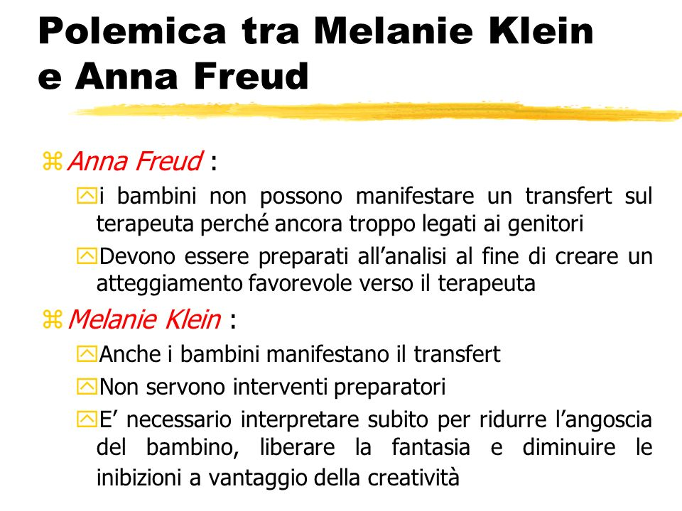 Polemica tra Melanie Klein e Anna Freud