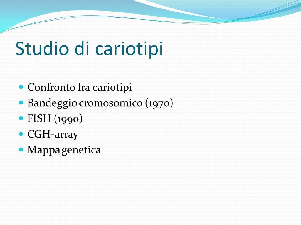 Studio di cariotipi Confronto fra cariotipi