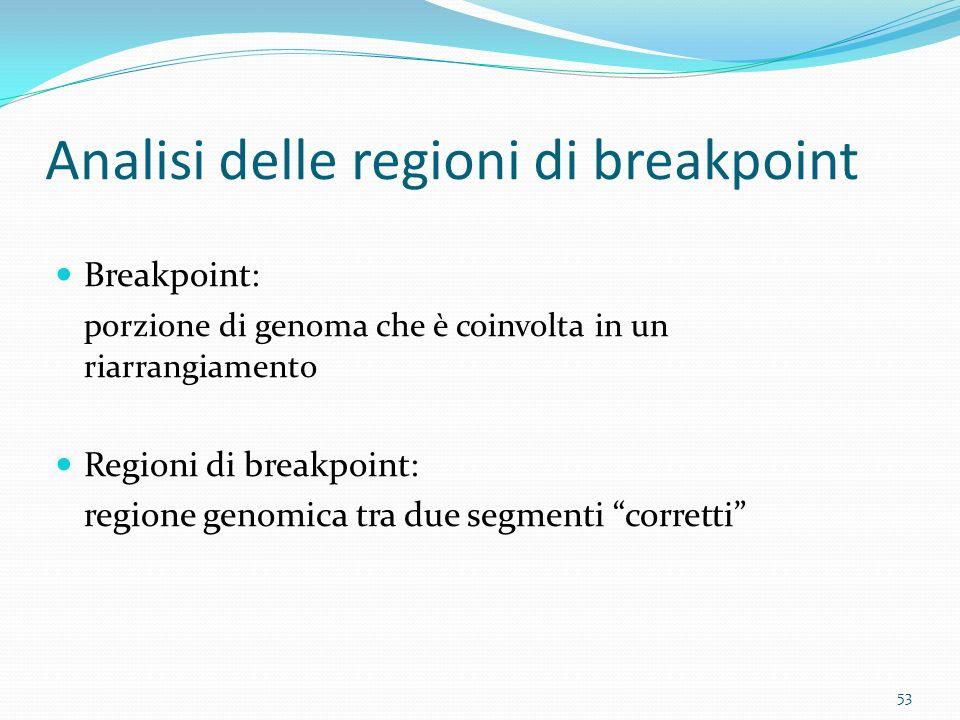 Analisi delle regioni di breakpoint