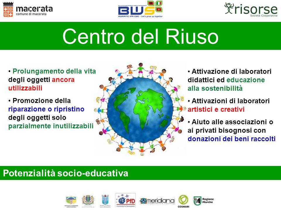 Centro del Riuso Potenzialità socio-educativa