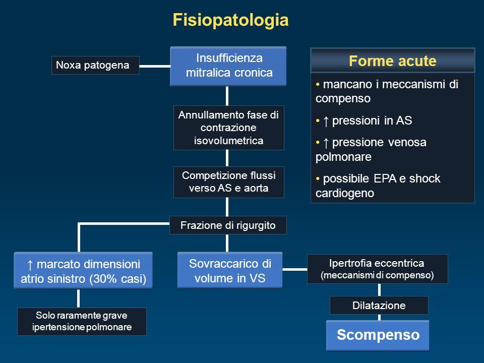 Fisiopatologia Forme acute Scompenso Insufficienza mitralica cronica