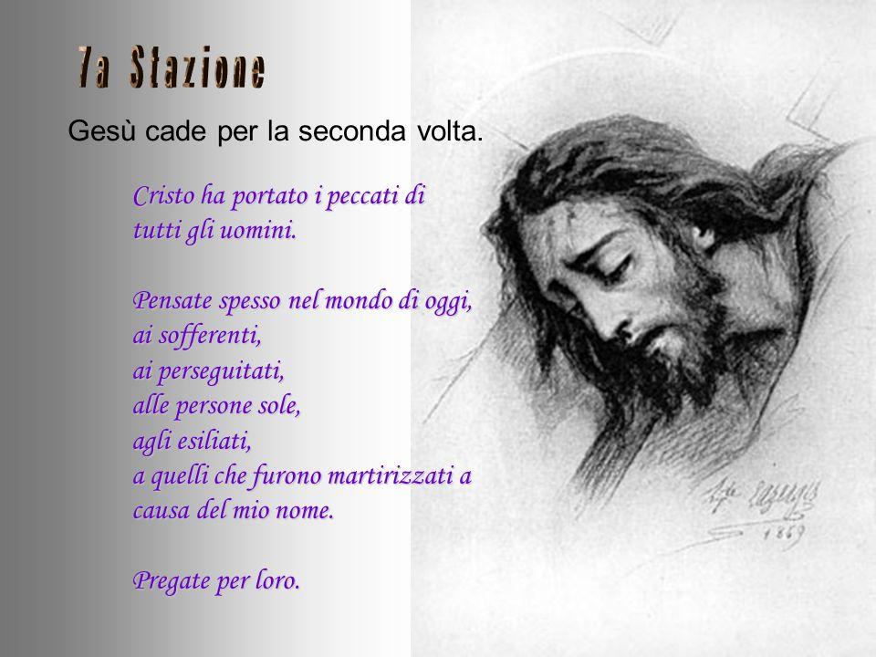 Gesù cade per la seconda volta.
