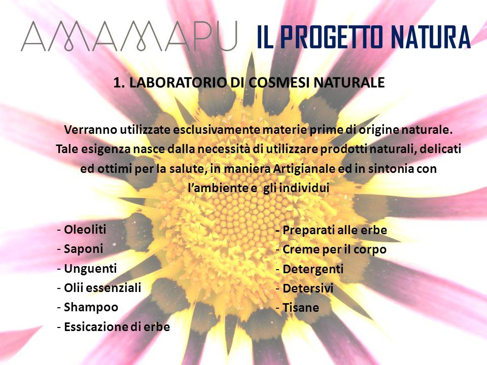 1. LABORATORIO DI COSMESI NATURALE