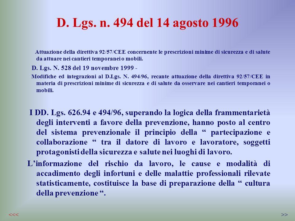 D. Lgs. n. 494 del 14 agosto 1996