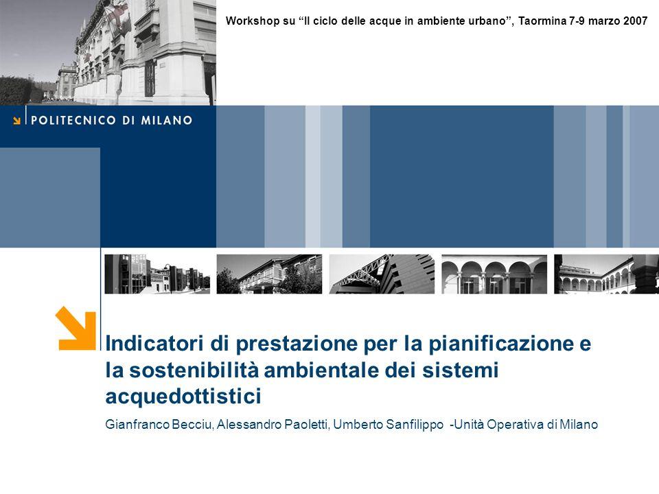 Workshop su Il ciclo delle acque in ambiente urbano , Taormina 7-9 marzo 2007