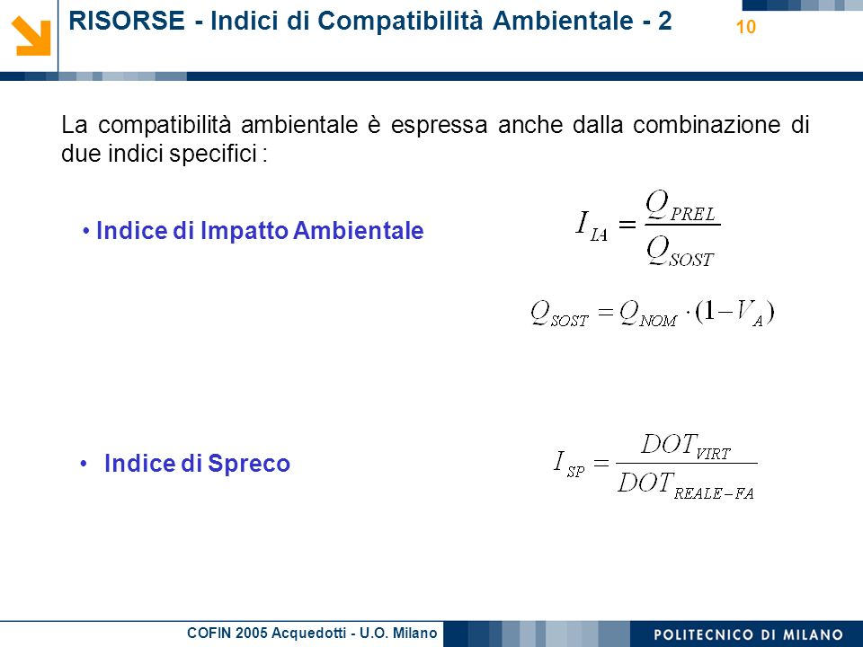 RISORSE - Indici di Compatibilità Ambientale - 2