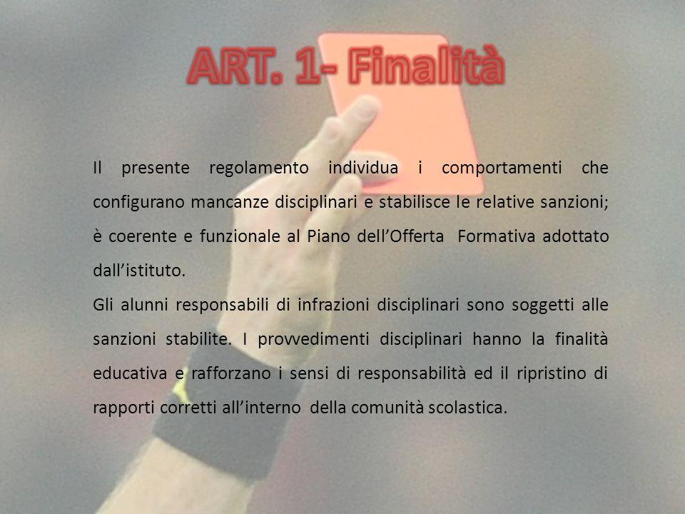 ART. 1- Finalità