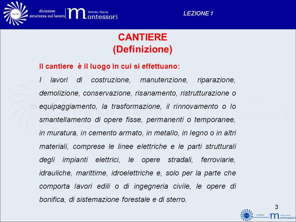 CANTIERE (Definizione)