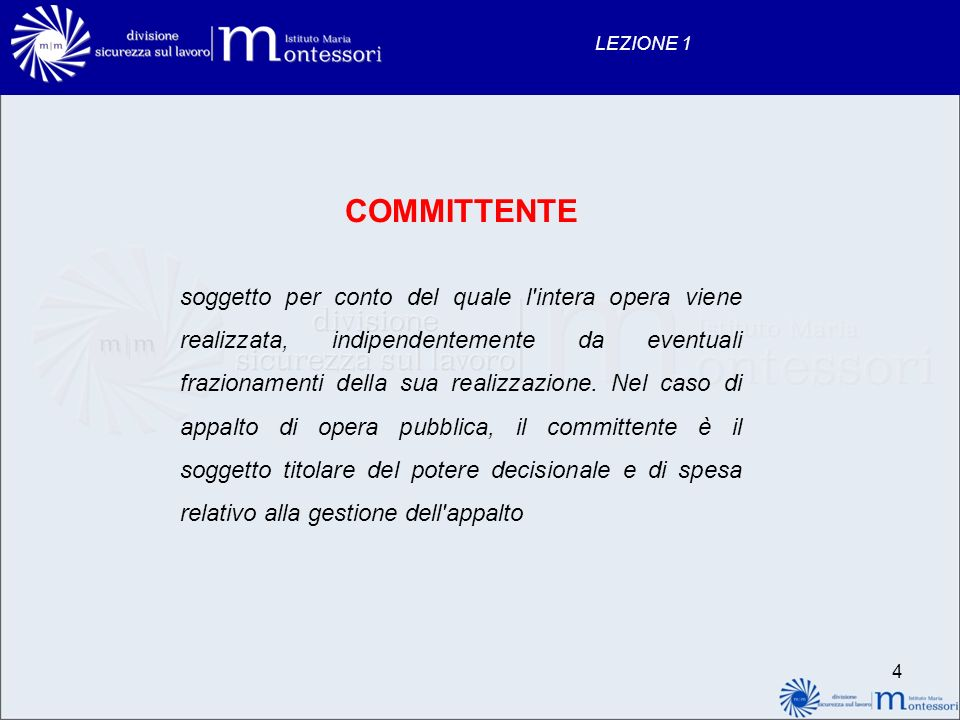 LEZIONE 1 COMMITTENTE.