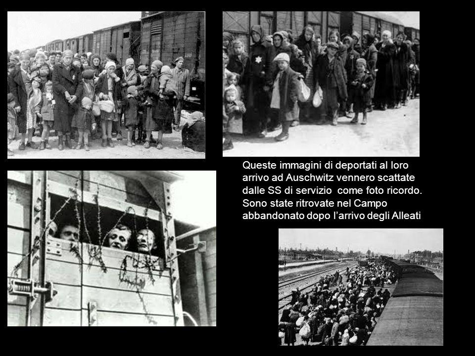 Queste immagini di deportati al loro arrivo ad Auschwitz vennero scattate dalle SS di servizio come foto ricordo.