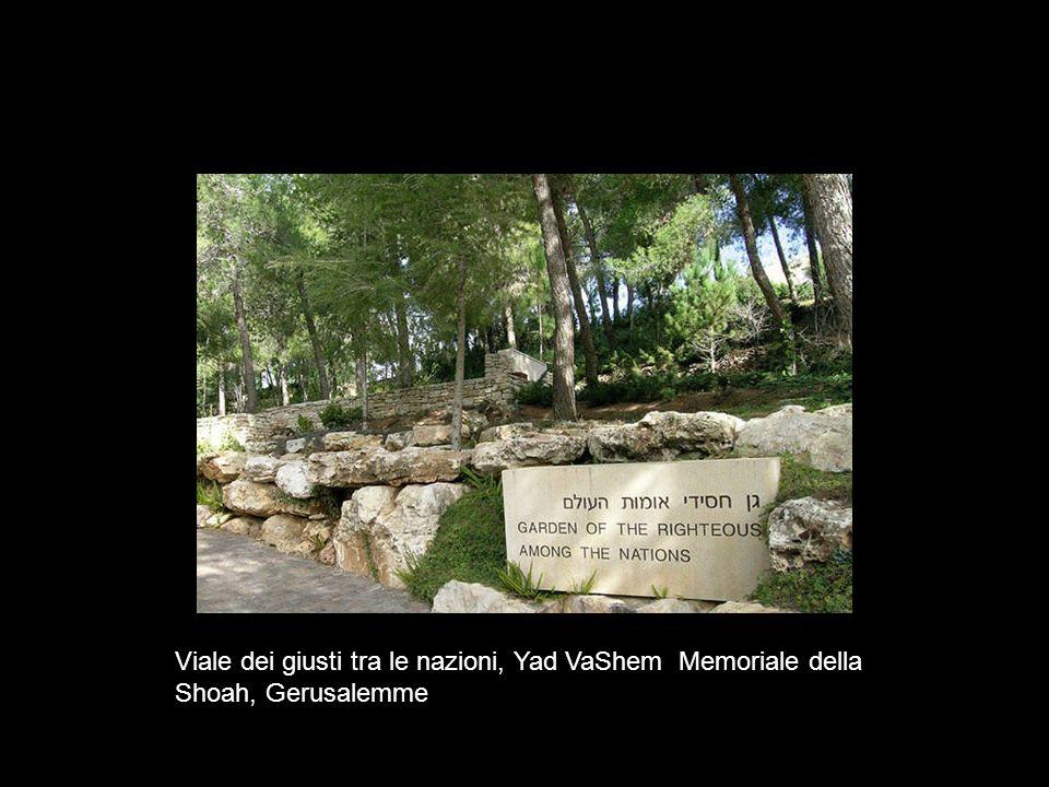 Viale dei giusti tra le nazioni, Yad VaShem Memoriale della Shoah, Gerusalemme