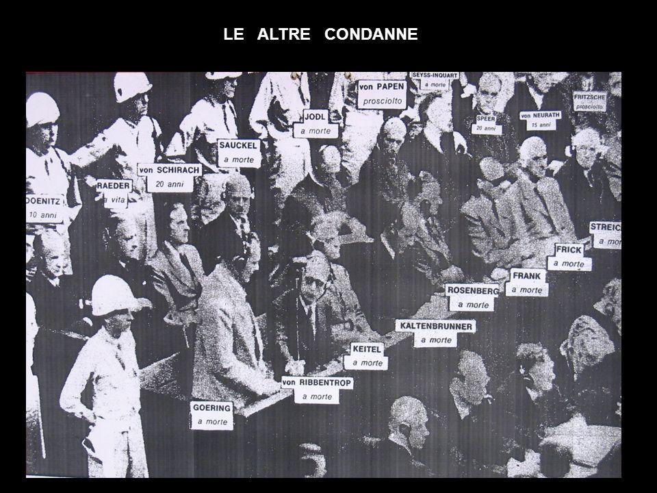 LE ALTRE CONDANNE