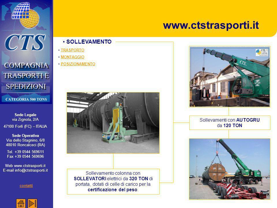 www.ctstrasporti.it SOLLEVAMENTO contatti