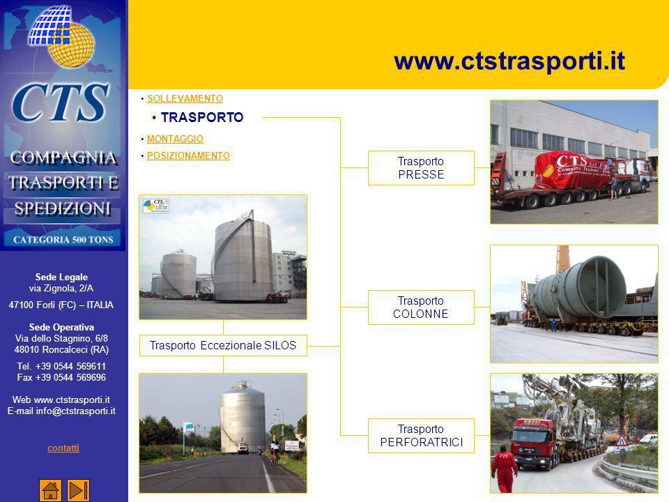 www.ctstrasporti.it TRASPORTO contatti Trasporto PRESSE