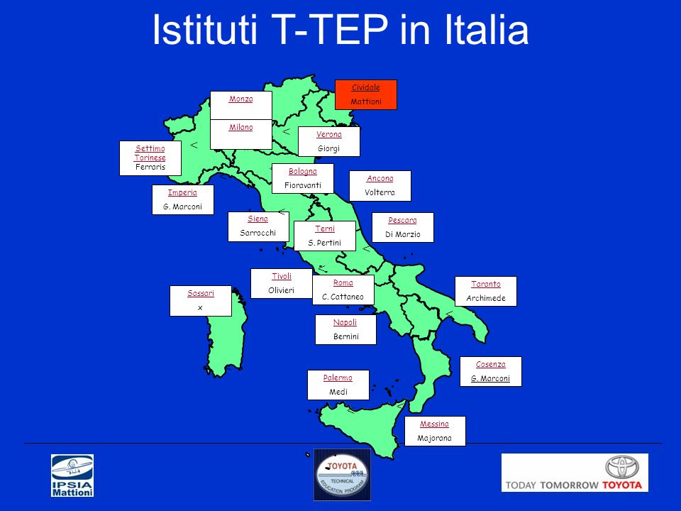 Istituti T-TEP in Italia
