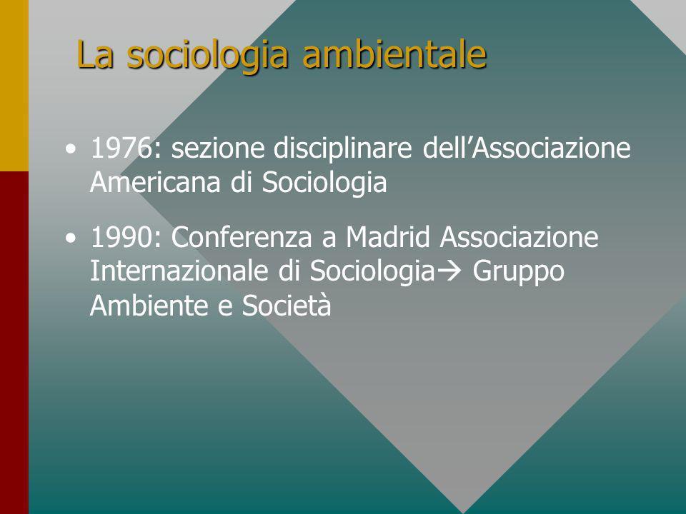 La sociologia ambientale