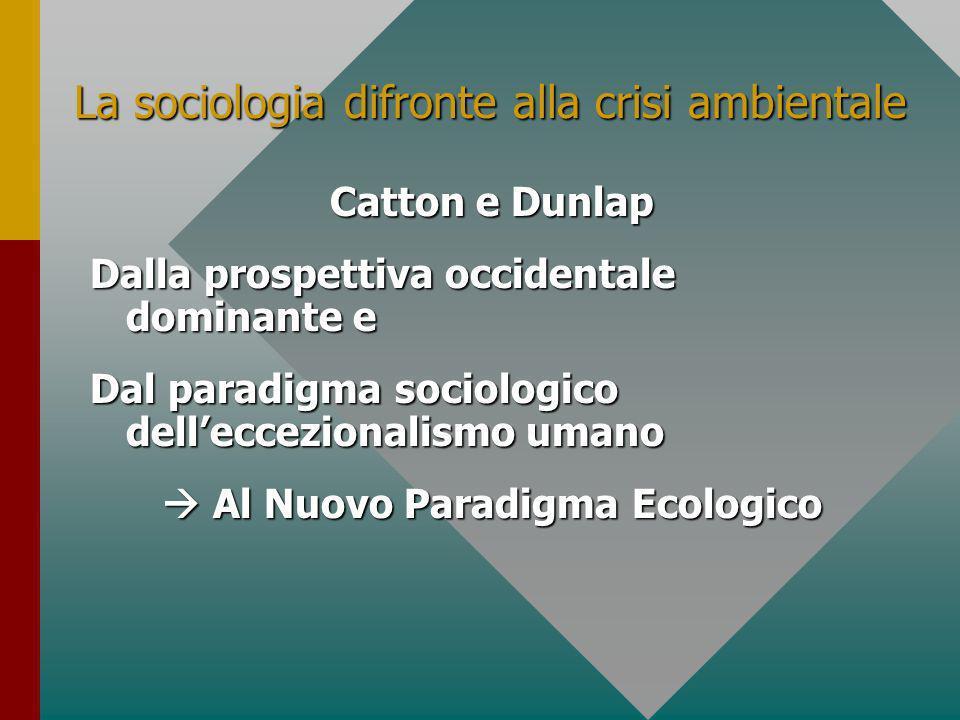 La sociologia difronte alla crisi ambientale