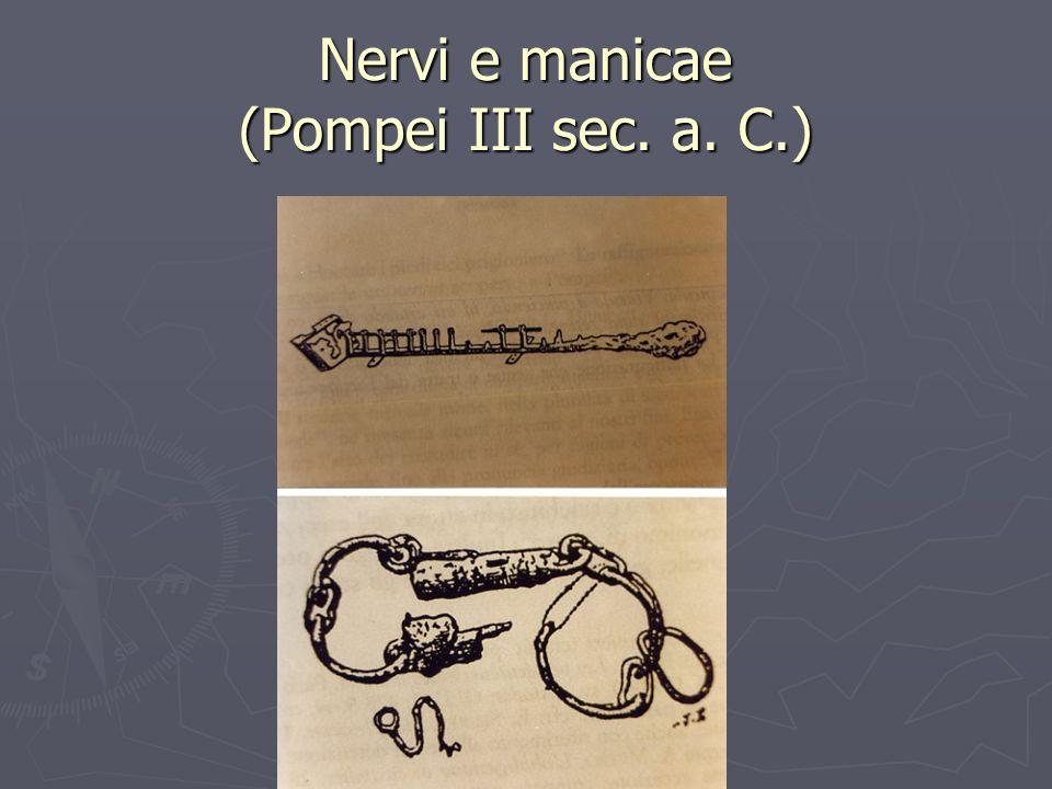 Nervi e manicae (Pompei III sec. a. C.)