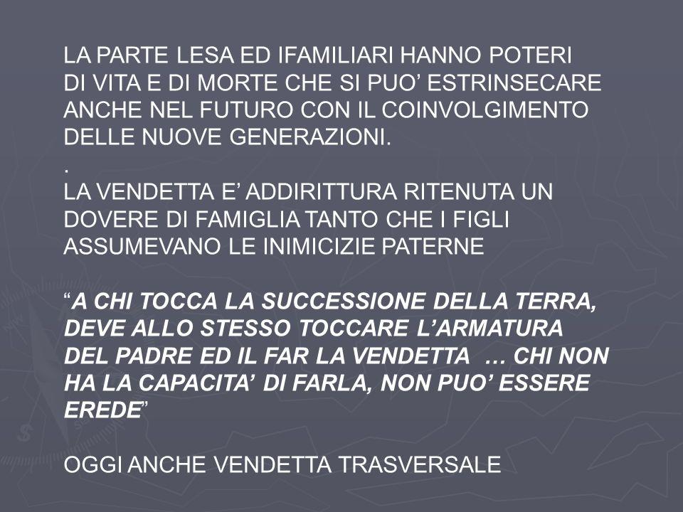 LA PARTE LESA ED IFAMILIARI HANNO POTERI