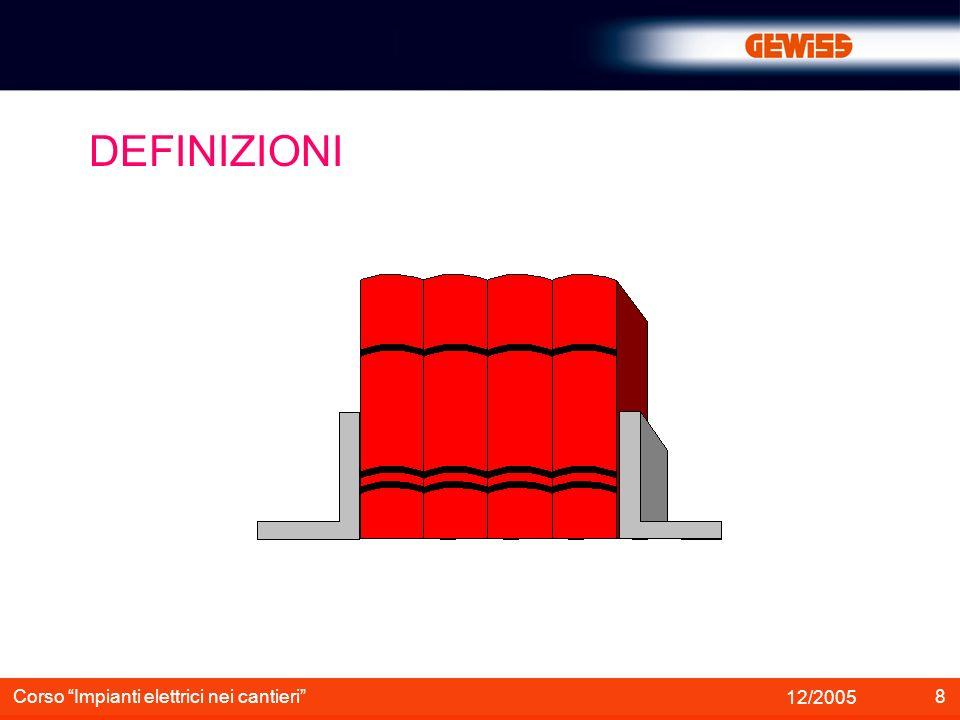 DEFINIZIONI Corso Impianti elettrici nei cantieri 12/2005