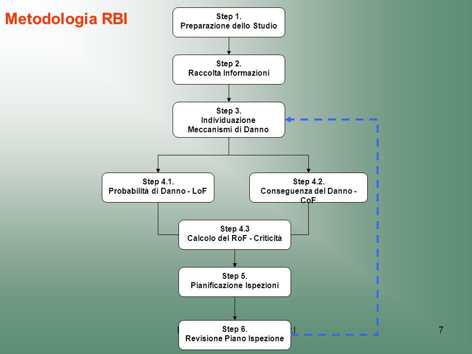 Metodologia RBI Donegani Anticorrosione S.r.l Step 1.