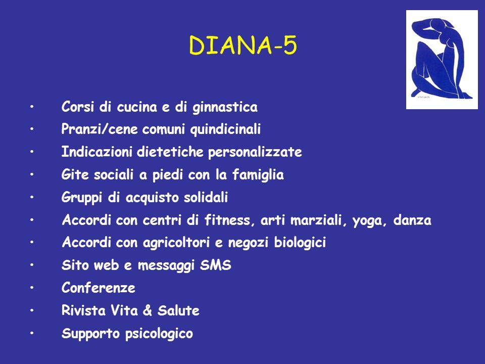 DIANA-5 Corsi di cucina e di ginnastica