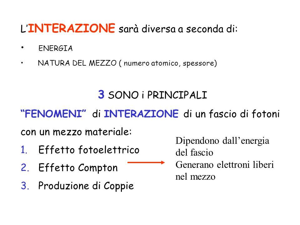 3 SONO i PRINCIPALI L'INTERAZIONE sarà diversa a seconda di: ENERGIA